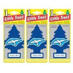 ราคา Little Trees® แผ่นน้ำหอมปรับอากาศ รูปต้นไม้ กลิ่น Ocean Mist จำนวน 3 ชิ้น เป็นต้นฉบับ Little Trees