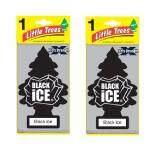 ราคา Little Trees X Tra Srength แผ่นน้ำหอมปรับอากาศ รูปต้นไม้ กลิ่น Black Ice จำนวน 2 ชิ้น เป็นต้นฉบับ