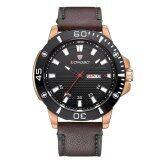 ซื้อ Longbo Brand Fashion Military Leather Quartz Watches Date Calendar Wristwatches Mens Watches 80190 ใหม่