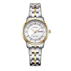ราคา Longbo นาฬิกาข้อมือสปอร์ตสำหรับผู้หญิง แสตนเลส หน้าปัดเข็ม88146 ออนไลน์ จีน