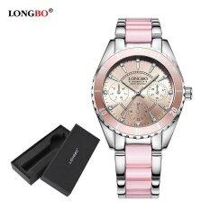 ราคา Longbo Fashion Casual Ceramics Watchband Casual Anolog Women Ladies Girls Watch Wristwatch 80303L Watch Gift Box นาฬิกาข้อมือผู้หญิง กันน้ำได้ รุ่น พิเศษแถมซองนาฬิกาสุดหรู สมุทรปราการ