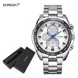 ขาย Longbo Fashion Stainless Steel Watchband Sport Miliatry Quartz Watch For Men 8834 Watch Gift Box Intl Longbo