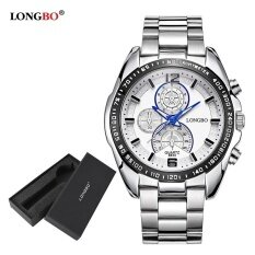 ทบทวน ที่สุด Longbo Fashion Stainless Steel Watchband Sport Miliatry Quartz Watch For Men 8834 Watch Gift Box Intl