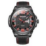 ขาย Longbo Man Army Fashion Leather Strap Sport Business Casual Quartz Calendar Watch For Mans Fashion 3005 Intl ใหม่