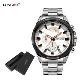 ซื้อ Longbo Man Fashion Stainless Steel Strap Sport Business Casual Quartz Watch For Mans Fashion 80242 Watch Gift Box Intl Longbo เป็นต้นฉบับ