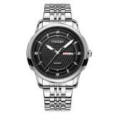 ทบทวน ที่สุด Longbo Sport Business Style Stainless Steel Belt Luminous Multifuction Quartz Wrist Watch Dual Caledar