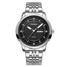 ราคา Longbo Sport Business Style Stainless Steel Belt Luminous Multifuction Quartz Wrist Watch Dual Caledar ใน จีน