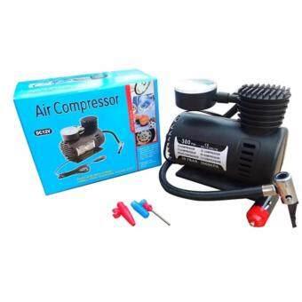 LOVBAG Air Compressor ปั้มลมไฟฟ้าสำหรับรถยนต์ ปั๊มลมติดรถยนต์ ปั๊มเติมลมยาง Air pump 300PSI 12V (สีดำ)