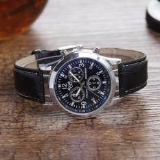 ซื้อ Love Shopping นาฬิกาข้อมือผู้ชาย สายสีดำ Watch Men Leather Strap Black ถูก กรุงเทพมหานคร