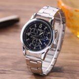 ราคา Love Shopping นาฬิกาข้อมือผู้ชาย สีเงิน Watch Men Silver Black ใหม่ ถูก