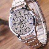 ขาย Love Shopping นาฬิกาข้อมือผู้ชาย สีเงิน Watch Men Silver White Lovely ถูก