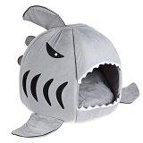 ราคา Lovely Soft Shark Mouth Shape Doghouse Pet Kennel With Cushion S Intl ใน จีน