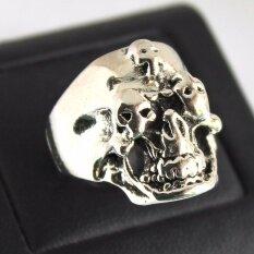 ราคา แหวนกะโหลก สแตนเลสหนา Lp 28 Lucky Jewelry