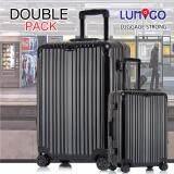 ความคิดเห็น Lumigo กระเป๋าเดินทาง กระเป๋าเดินทางเฟรมอลูมิเนียม กระเป๋าล้อลากเฟรมอลูมิเนียม ชุดเซ็ต หรูหรา ราคาประหยัด ขนาด 29 นิ้ว และ 20 นิ้ว Aluminum Frame Luggage รุ่น Tls 2920 Al Ba สีดำ 28 นิ้ว สีดำ 20 นิ้ว