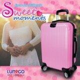ซื้อ Lumigo กระเป๋าเดินทาง กระเป๋าเดินทางล้อลาก กระเป๋าเดินทางขึ้นเครื่อง Travel Luggage Abs ขนาด 20 นิ้ว รุ่น Tl 2001 Pi สีชมพู ใหม่
