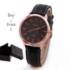 ขาย Luobos แฟชั่นระดับไฮเอนด์หรูหราสบาย ๆ Studded นาฬิกาผู้หญิงสายBlack Luobos เป็นต้นฉบับ