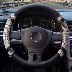 ทบทวน Luowan Car Steering Wheel Covers Diameter 14 Inch 35 5 36Cm Pu Leather And Ice Silk For Seasons Gray S Intl Luowan