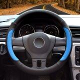 ส่วนลด Luowan Car Steering Wheel Covers Diameter 14 Inch 35 5 36Cm Pu Leather For Full Seasons Black And Blue S Intl Luowan
