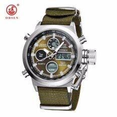 ขาย นาฬิกาแบรนด์หรูทั้งกีฬาทหารสีเขียวใบนาฬิกาข้อมือไอ้รัด Relogio Masculino Relojes สีเขียว ราคาถูกที่สุด