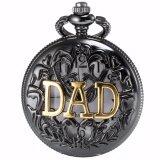 ราคา Luxury Ks Retro Black Hollow Case Hunter White Dial Pendant Men Lady Quartz Pocket Watch Fob Clisp Chain Father Dad Gift Wpk051 นาฬิกาข้อมือ ชายและหญิง Intl Unbranded Generic ใหม่