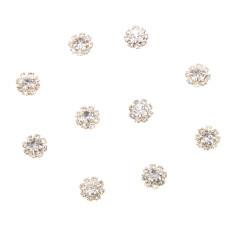 ขาย Magideal Phenovo 10 Rhinestone Buttons Flatback Embellishments Craft Diy Gold 1Cm Intl ผู้ค้าส่ง