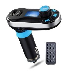 Wireless Bluetooth Hands Free Car Kit Adapter Fm Transmitter Bt66 Calling Mp3 Player Dual Usb Ports For Cellphones Power Battery Charge ใหม่ล่าสุด