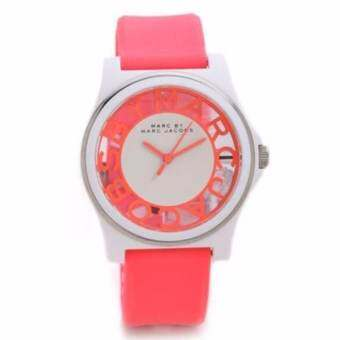 Marc By Marc MBM4016 Henry Skeleton Coral Silicone Band Ladies Watch