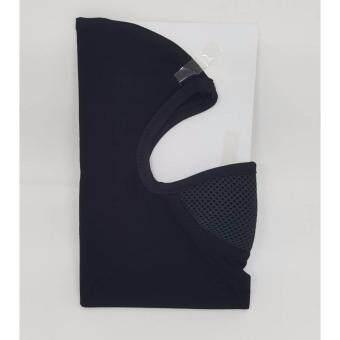 MASK-หน้ากากผ้า ไอ้โม่ง พร้อมกรองอากาศ (สีดำ-กรองเล็ก)