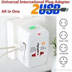 ราคา Mastersat Universal Travel Adaptor With 2 Usb หัวแปลงปลั๊กไฟใช้ได้ทั่วโลก สำหรับนักเดินทาง มี Usb ใช้กับมือถือ ได้ด้วย Mastersat ใหม่