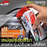 ส่วนลด Mcpp ชุดซ่อมสีมินิสเปรย์ Toyota สีเทา 1F8 สำหรับ โตโยต้า Camry Altis Corolla Yaris Vios ปากกาแต้มสี รถยนต์ ลบรอยขีดข่วน รอยถลอก รอยเฉี่ยว ทำสีได้ด้วยตัวเอง Medium Silver Metallic 1F8 กรุงเทพมหานคร