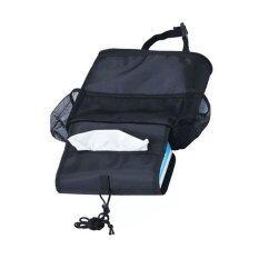 Md กระเป๋าใส่ของอเนกประสงค์ เก็บความร้อน เย็น หลังเบาะรถยนต์ สีดำ เป็นต้นฉบับ