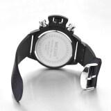 ขาย Megir 2002 ผู้ชายนาฬิกาควอทซ์ 30แผ่นความทนทานต่อน้ำสายซิลิโคนสีดำ ถูก จีน