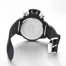 ซื้อ Megir 2002 ผู้ชายนาฬิกาควอทซ์ 30แผ่นความทนทานต่อน้ำสายซิลิโคนสีดำ ออนไลน์ จีน