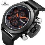 ขาย Megir 2002 Men Calendar Rubber Sport Quartz Wrist Watch Intl