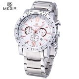 ขาย Megir 3008 30M Water Resistance Male Quartz Watch With Date Display Luminous Pointer Leather Band Intl ใหม่