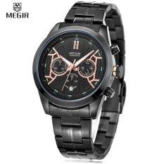 ราคา ราคาถูกที่สุด Megir 3016 Male Quartz Watch Chronograph 24 Hours Display Date Wristwatch Intl