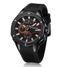 ขาย ซื้อ Megir Brand Quartz Men Watch Clock Relogio Masculino Luxury Chronograph Silicone Army Military Sport Watches Mens Saat Erkekler Mn2053G Intl ใน สมุทรปราการ