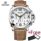 ซื้อ Megir Fashion Casual Top Brand Quartz Watch นาฬิกาข้อมือ Es Men Leather Sports Watch นาฬิกาข้อมือ Man Business Wrist Watch นาฬิกาข้อมือ Male Luminous Chronograph Hour