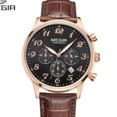 ราคา Megir นาฬิกาสุดหรูโครโนกราฟควอตซ์นาฬิกาผู้ชายแฟชั่นลำลองนาฬิกาอะนาล็อกนาฬิกากันน้ำจัดส่งฟรี 2022 นานาชาติ ถูก