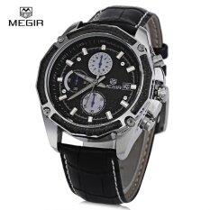 ราคา Megir M2015 Men Quartz Watch Chronograph 3Atm Date Display Leather Band Wristwatch Intl ออนไลน์ สมุทรปราการ