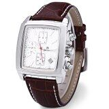 ซื้อ Megir M2028 Male Quartz Watch Rectangle Dial Sport Wristwatch White Intl ใหม่
