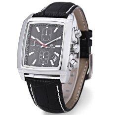 ราคา Megir M2028 Male Quartz Watch Rectangle Dial With Date Function Sport Wristwatch Intl จีน