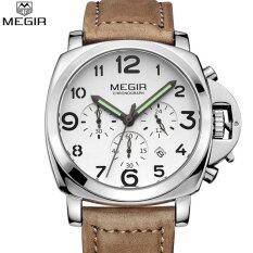 Megir Men Fashion Quartz Watch Analog Wristwatch Man Waterproof Business Watches For Male 3406 Free Shipping Intl ใหม่ล่าสุด