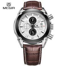 ราคา Megir Men Official Genuine Leather Watch Business Wrist Watches Sports Watch Intl ถูก
