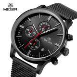 Megir Men S Quartz Wrist Watches Chronograph Stainless Steel Watch Waterproof Watch Intl เป็นต้นฉบับ
