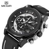 ราคา Megir Mn2051G Quartz Men Sport Watch Big Dials Silicone Strap Army Military Watches Clock Men Chronograph Wristwatches Intl ราคาถูกที่สุด