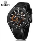 ซื้อ Megir Mn2053G Men Sport Watch Chronograph Silicone Strap Quartz Army Military Watches Intl Megir ถูก