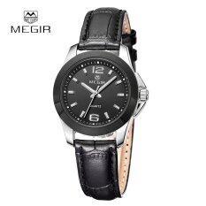 ราคา Megir Quartz Watch Women Couple Female Genuine Leather Dress Wristwatch Intl ใหม่ ถูก
