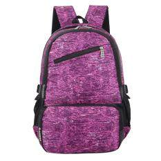 ส่วนลด Men And Women Oxford Outdoor Travel Large Capacity Backpack Purple Red Intl Vakind