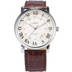 Men Automatic Mechanical Date Roman Brown Leather Band Business Fashion Wrist Watch Pmw099 นาฬิกาข้อมือชาย แฟชั่น สปอร์ต เท่ Intl ใน Thailand